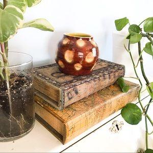 small ceramic handmade vintage pot